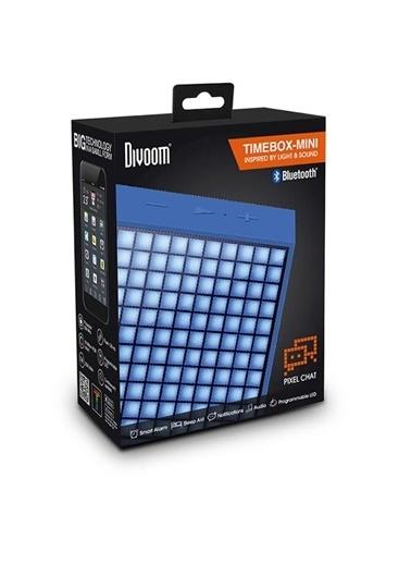 Divoom TimeBox Mini interaktif Bluetooth Hoparlör, Mavi Mavi